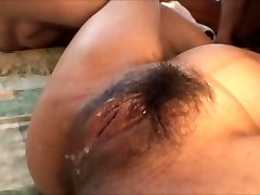 Japanese pregnant doll gang-fucked by a bunch of guys