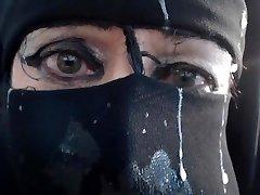 facial cumshot niqab