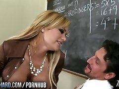 Hot cougar fucks instructor