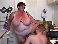 BBW Threesome #6 (ENORMOUS Granny & Two Youthfull Guys)