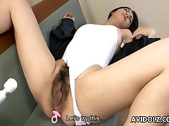 Giant pussy Asian bitch gets toy fucked strongly