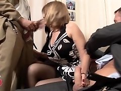 French COUGAR swingers 4some
