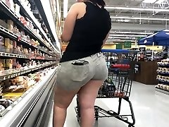 Wide Butt BBW Latina with Ass Gobbling Cut-offs Part 1