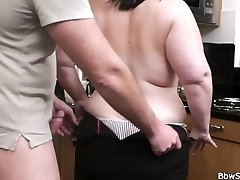 Husband caught hotwife with ginormous bitch