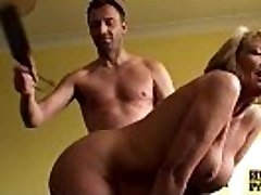 Bigtitted older sub lady spanked and screwed