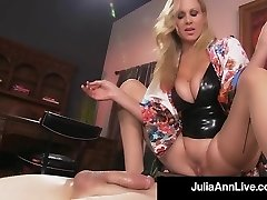Boy Toy Gets Throttled By Attractive Milf Julia Ann's Pussy!