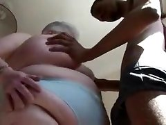 Fat British Mature Inhales DIck