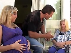 Sizzling Light-haired Teens Callie And Elaina Get Preggers