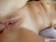 All Inward Her first anal creampie