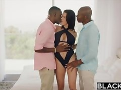BLACKED Wife Peta Jensen Cheats With Two Studs