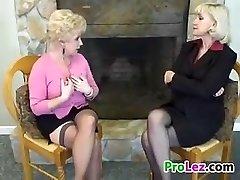 Blonde Girl-on-girl Grandmothers