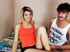 Skinny with her ex-boyfriend 2