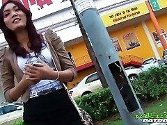 Stunning Thai girl antsy for big white cock