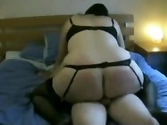 Fat Ass Chubby ex-girlfriend riding my cock