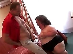 Ugly Mature PLUS-SIZE Midget Sucks Fucks and Facialed