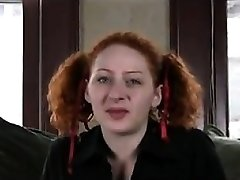 Gross Redhead Fingering Her Hairy Coochie