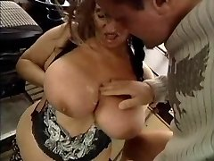 UGLY GRANNY WITH HUGE UDDERS PUMMELED  BY THE MECHANIC 1