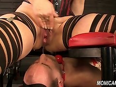Wet and sloppy femdom from MonicaMilf - Norwegian facesitting