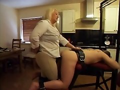 Strapon - Hot BBW Mistress Using Her Boytoy's Rump
