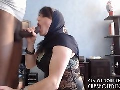 Submissive Arab Wife Pleasuring Her Husband