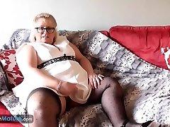 EuropeMaturE Blonde Obese Lexie Solo Masturbation