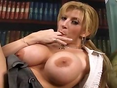 Huge-titted Sara pleases herself