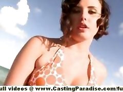 Brooke Lee Adams teenage stunner with big ass and natural tits gets naked on the beach
