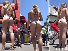 Big Bootie Thong Latina Honies Beach Voyeur HD