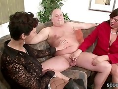 German COUGAR Showcase Couple to Fuck Good in Threesome