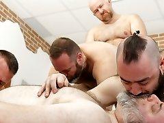 Bear Riders Club Orgy! - BearFilms
