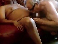 Elderly man Fellates Black Dick