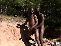 Scorching african guys have gonzo gay sex in the sun