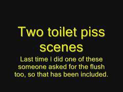 Two Toilet Piss Scenes (at work)