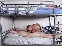 Horny stepdad penetrates his naughty stepson