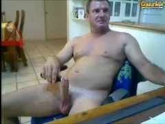 Aussie daddy orange dildo Three mins