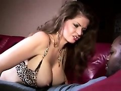 Hot big tit mom teases her dark hunk
