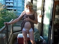 Naughty Gigi smoking, flashing, and sucking