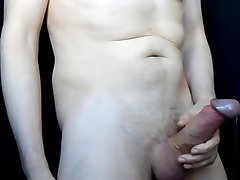 Slow Edging with Multiple Orgasms and Spunk Fountain.