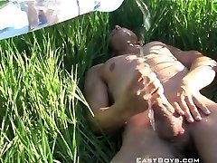 Mega jizz flow in the grass