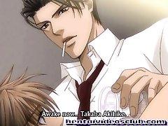 Cute anime homo steaming bareback slammed