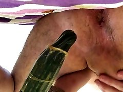 deep anal cucumber extreme fake penis insertion faggot
