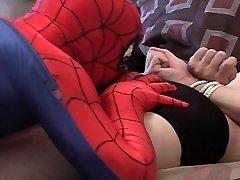 Spidergay milks off his mate