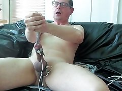 Jizz with estim and urethral sounding