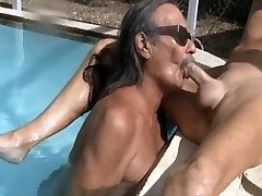Jamie bj's jenny in the pool 1