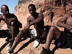 Super-fucking-hot african guys have hardcore gay fucky-fucky in the sun