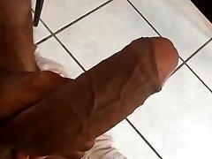 Huge ebony fuckpole