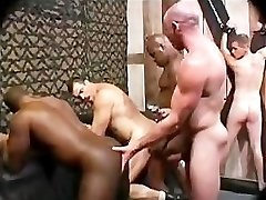 Black Milky Bareback Rough Group Fuck