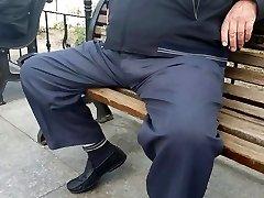 Straigh Turkish Older Man in Public