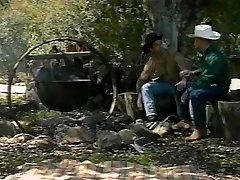 Cowboys at the campfire