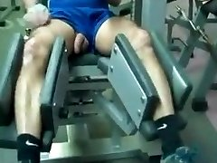 Straight daddy workout in gym
